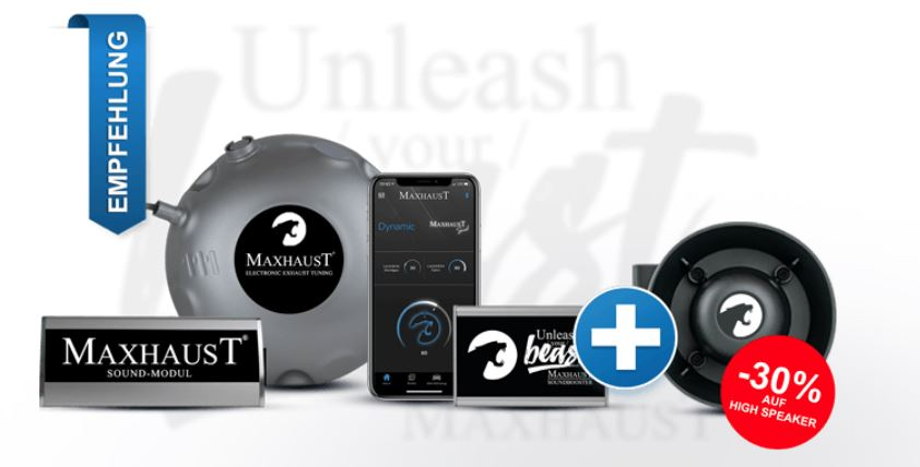 maxhaust active-sound soundbooster rabatt gutschein-code coupon angebot